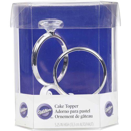 Two Rings Wedding Cake Topper