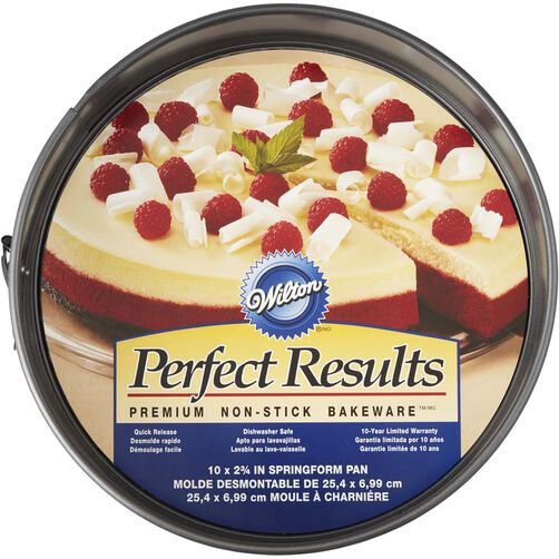 """Perfect Results 10"""" Springform Pan, with packaging"""