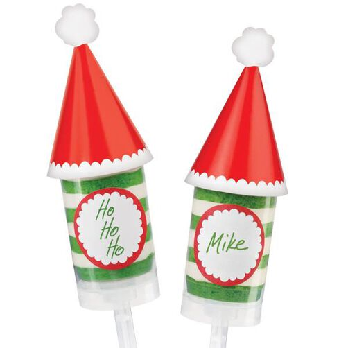 Santa's Hat Treat Pop Decorating Kit