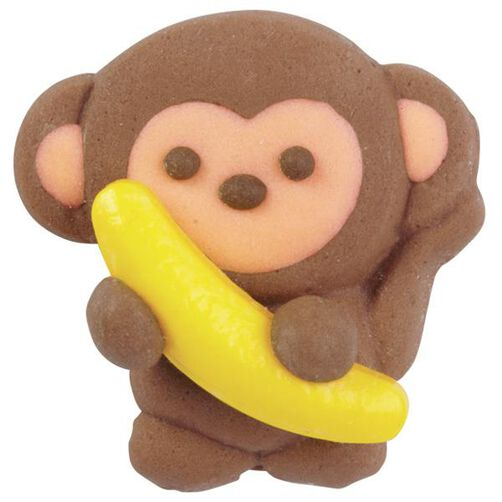 Monkey with Banana Royal Icing Decorations