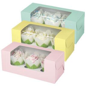 Pastel 3-Cupcake Box
