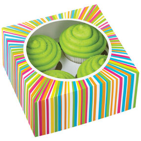 4-Cavity Color Wheel Cupcake Box