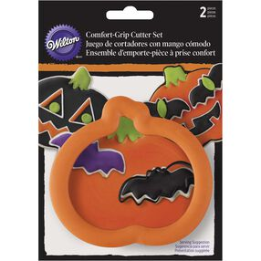 Wilton Halloween Pumpkin Comfort-Grip Cookie Cutter Set