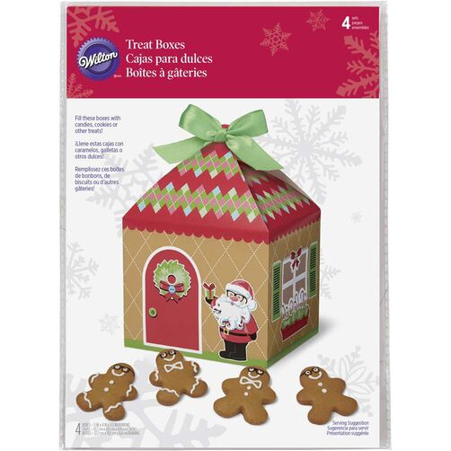 Christmas Sweet Holiday Gingerbread House Treat Boxes