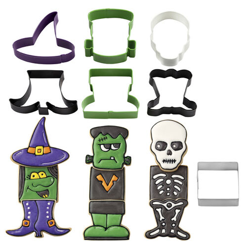 Monster, Witch & Skeleton Cookie Cutter Set
