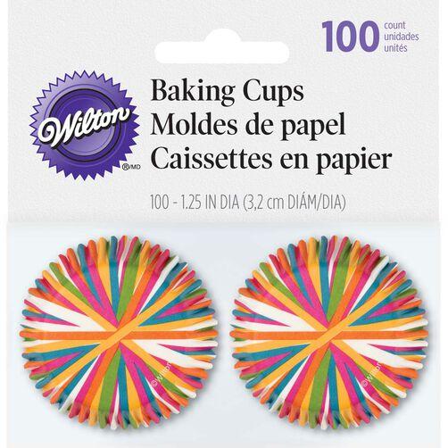Color Wheel Mini Cupcake Liners