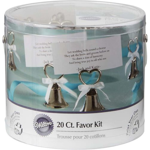 Silver Bell Wedding Favor Kit, packaging