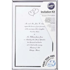 Sweet Hearts Wedding Invitation Kit