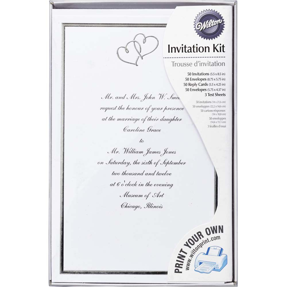Superior Sweet Hearts Wedding Invitation Kit | Wilton