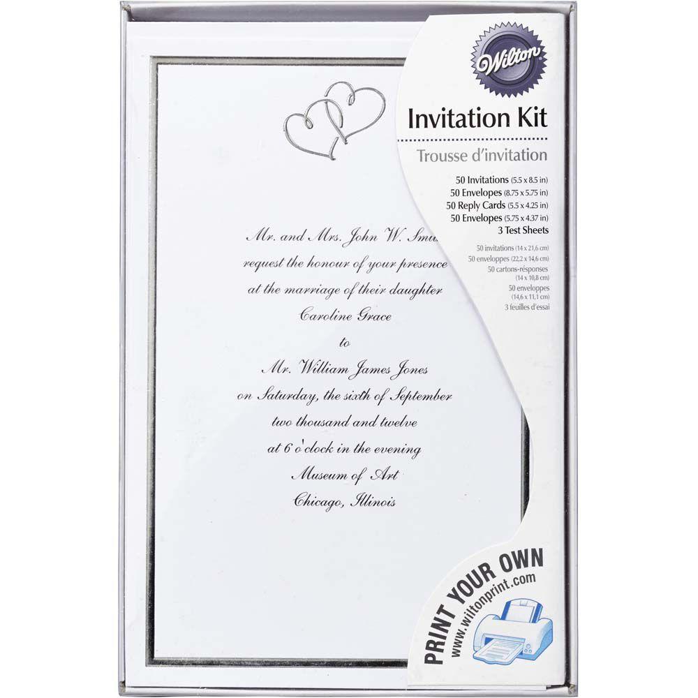 Sweet Hearts Wedding Invitation Kit