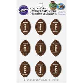 Wilton Football Candy Decorations