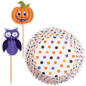 Polka Dot Pumpkin Cupcake Combo Pack