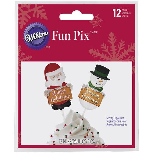 Christmas Santa and Snowman Fun Pix