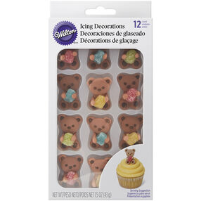 Bear and Gum Drop Icing Decorations