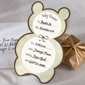 Baby Bear Baby Shower Invitation