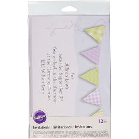 Pennant Garland Baby Shower Invitations