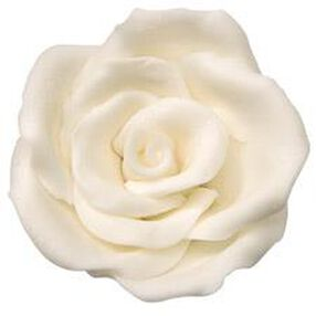 Pre-made White Icing Rose - Large