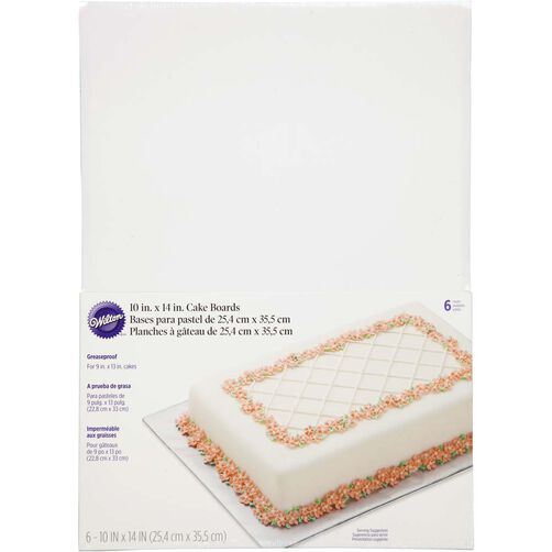10 X 14 Sheet Cake Board Wilton