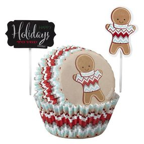 Wilton Christmas Holiday Sweet Swap Cupcake Combo Baking Cups and Picks
