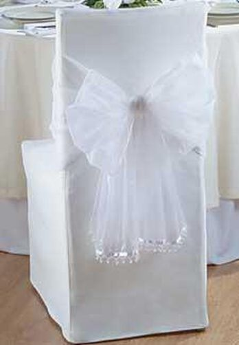 Organza Beaded Chair Wrap