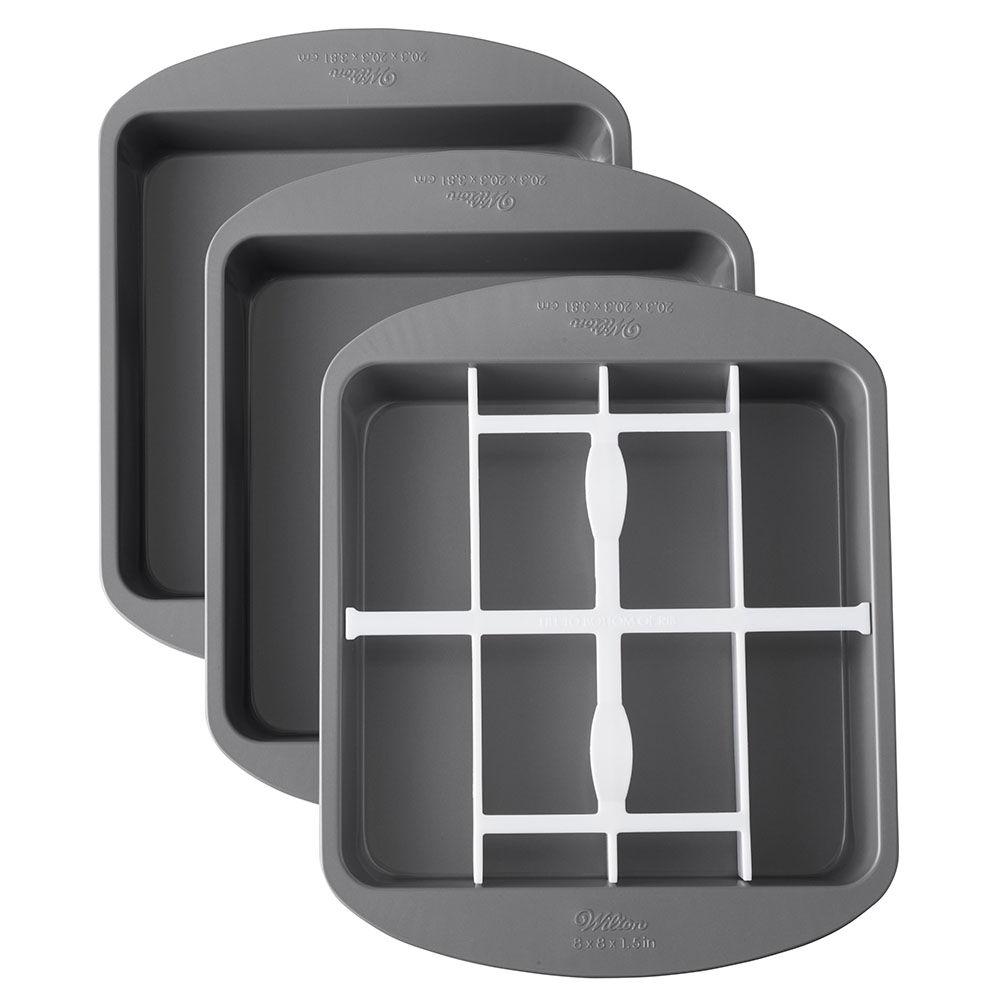 Square Checkerboard Cake Pan Set Wilton