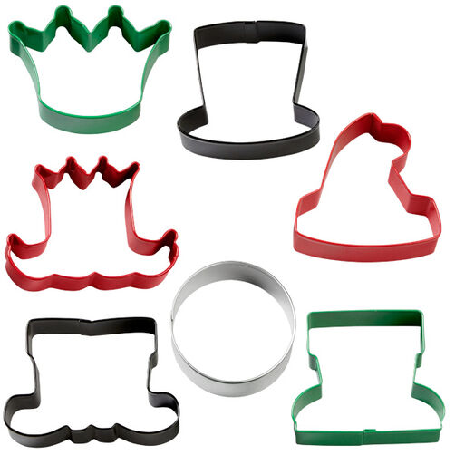 7-Pc. Assorted Christmas Character Cookie Cutter Set