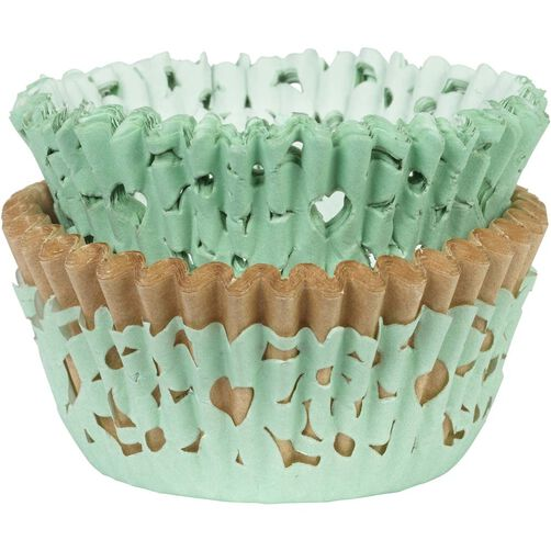Green Simple Elegance Baking Cup Set