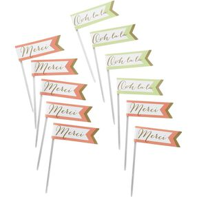 French Inspired Fun Pix Cupcake Toppers