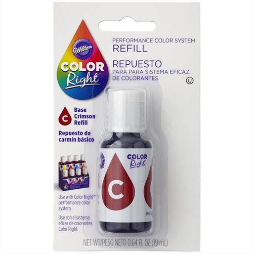 Wilton Color Right Crimson Red Base Color Refill