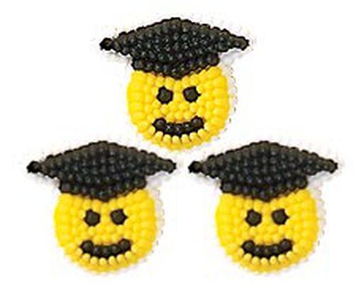 Petite Smiley Grad Icing Decorations