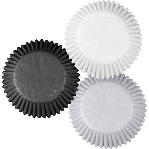 Black & Silver Cupcake Liners