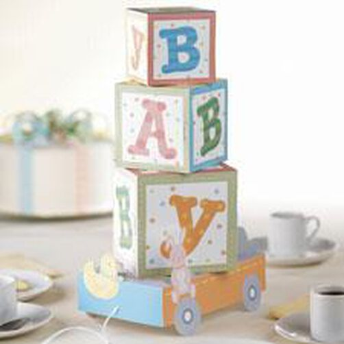 Baby ABC Blocks Centerpiece