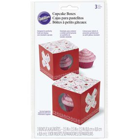 Valentine's Day Doodles Individual Cupcake Boxes