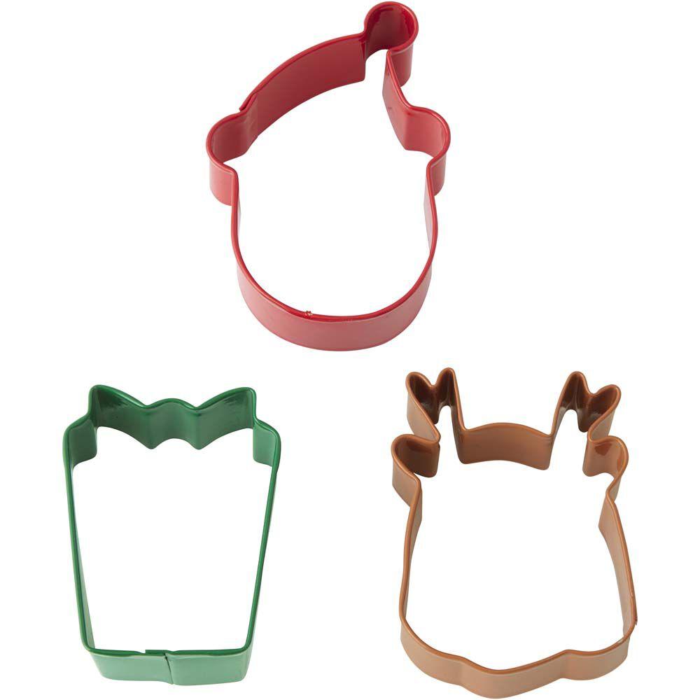 Santa Christmas Cookie Cutter Set | Wilton
