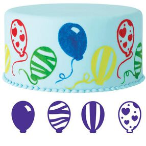 4-Pc. Balloons Cake Stamp Set