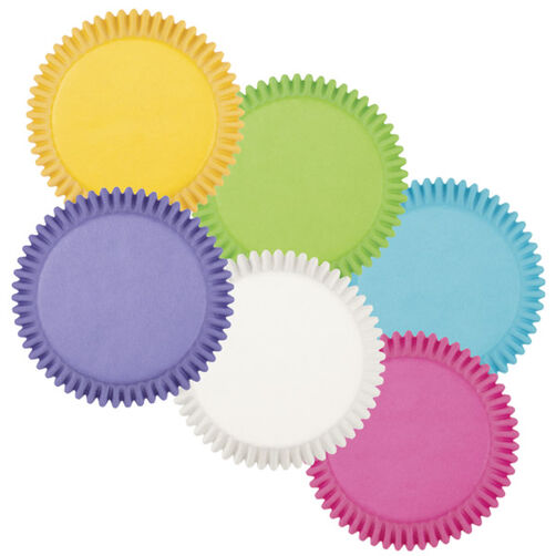 Bright Rainbow Multi-Colored Baking Cups