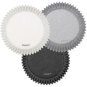 White/Black/Silver Standard Baking Cups