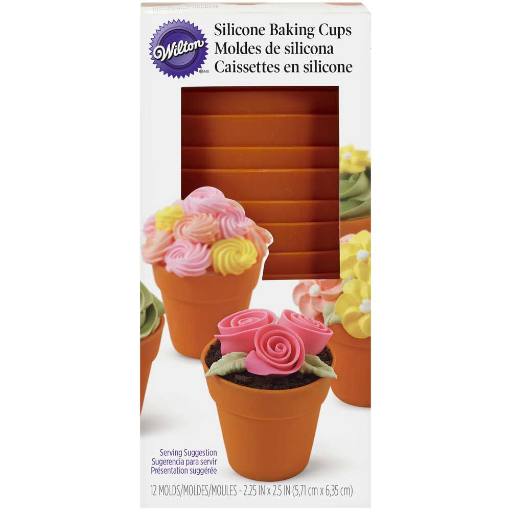 Terra Cotta Pot Shaped Silicone Baking Cups Wilton