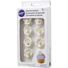 Wilton White Rose Icing Decorations