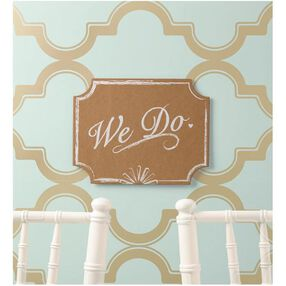 Wilton We Do Wedding Sign, 11 x 8.5