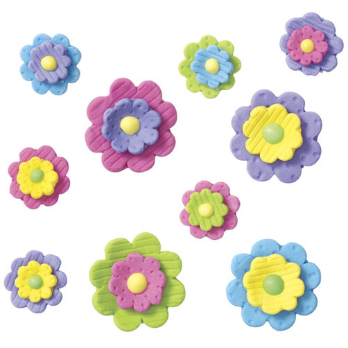 Pre-made Royal Icing Multi Dimensional Flowers