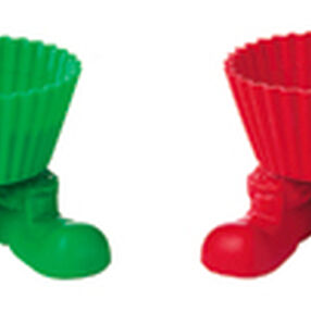 Santa Silly-Feet! Silicone Baking Cups