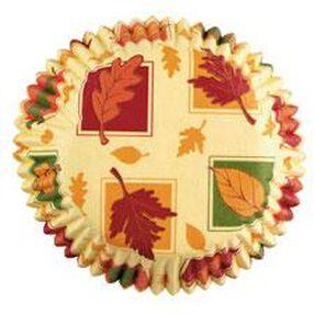 Autumn Leaves Mini Baking Cups