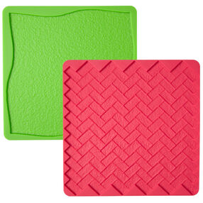Grass/Brick 2-Pc. Silicone Texture Mat Set