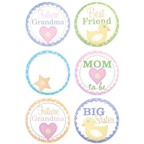 baby shower buttons wilton