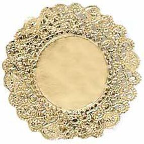 6 in. Round Gold Foil Cake Doilies