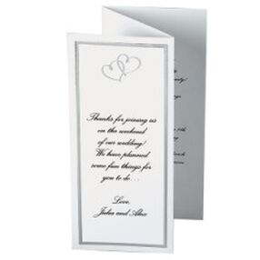 Sweet Hearts Trifold Wedding Programs