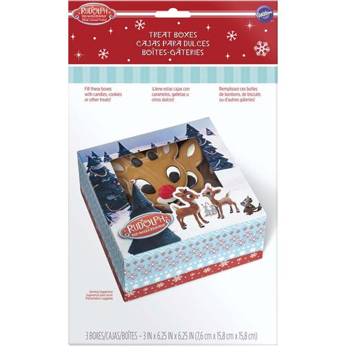 Wilton Rudolph the Red-Nosed Reindeer Cupcake Boxes