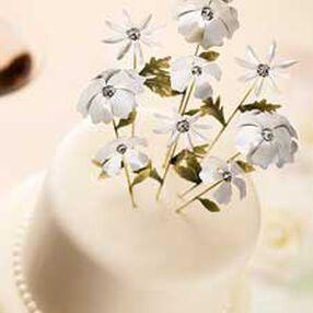 White Flowers Picks Topper