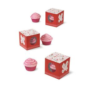 Wilton Valentine?s Day Doodles Individual Cupcake Boxes, 3-Ct.